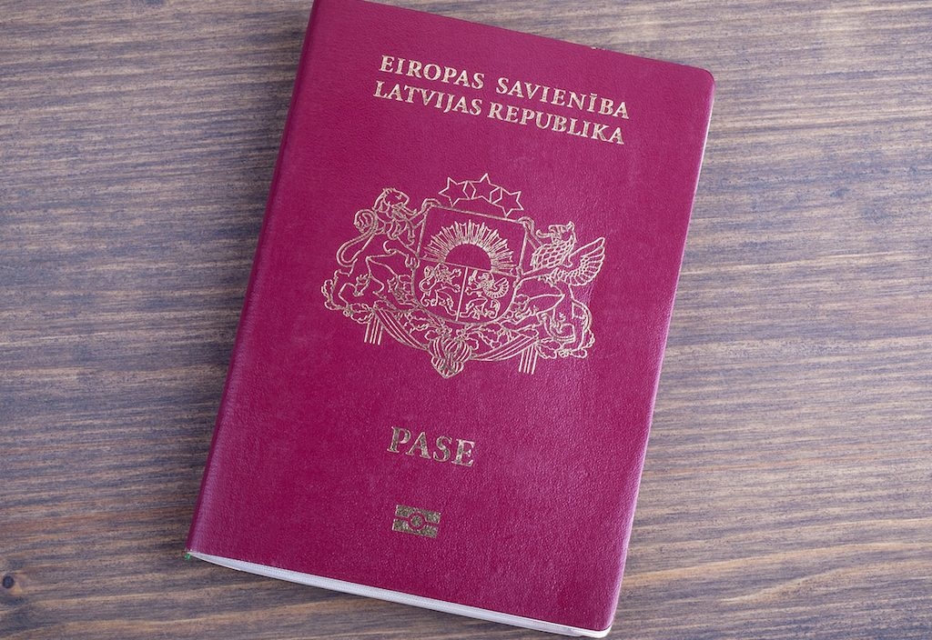 Latvia passport