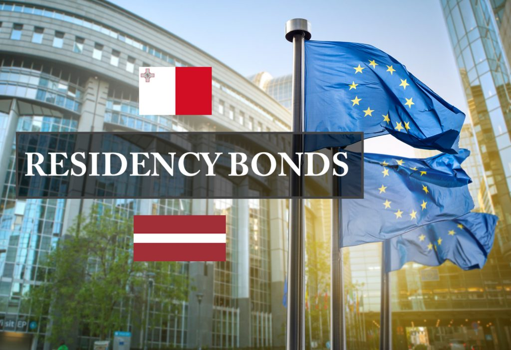 Residency bonds Malta and Latvia comparison